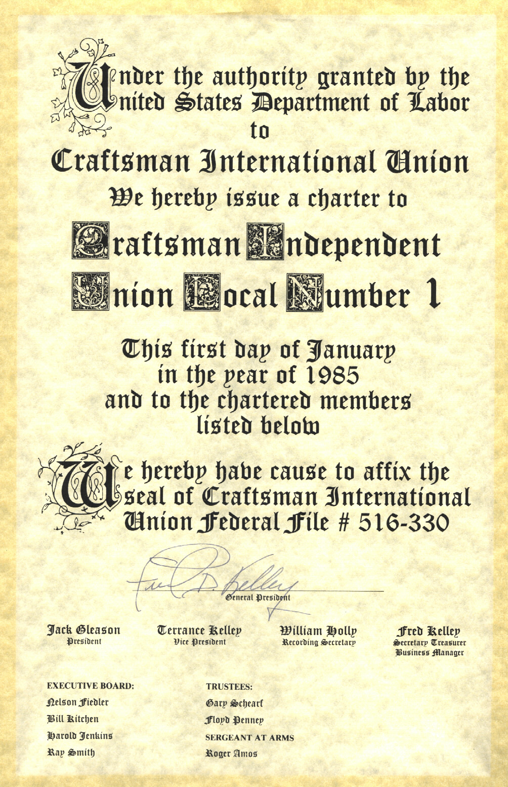 Charter Document